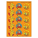 Trend Thanksgiving Time - Pumpkin Stinky Stickers Large Round, 60 ct. (T-83403)
