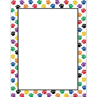 Teacher Created Resources Paw Prints 8.5 x 11 Computer Paper, Red/White, 50/Pack (TCR4769)