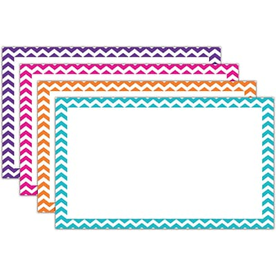 Top Notch Teacher Products® 3 x 5 Blank Border Index Card, Chevron