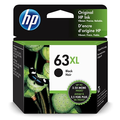 HP 63XL Black High Yield Ink Cartridge (F6U64AN)