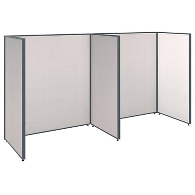 Bush Business Furniture ProPanels 120W x 36D x 66H 2 Person Open Cubicle Configuration, Light Gray (PPC003LG)
