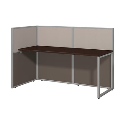 Bush Business Furniture Easy Office 60W Straight Desk Open Office, Mocha Cherry, (EOD160MR-03KFA)