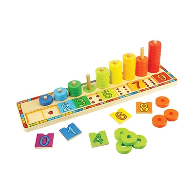 Bigjigs Toys Wooden Learn to Count Stacking Toy, Grades PreK-2 (BJT531)