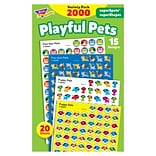 TREND® Playful Pets superSpots® and superShapes Stickers Variety Pack, 2000 Count (T-46929)