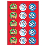 Trend Christmas - Peppermint Stinky Stickers Large Round, 60 ct. (T-932)