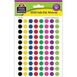 Teacher Created Resources Colorful Circles Mini Stickers, 3/8 Diameter, 1144/PacK, 6 PacK/Bundle (T