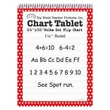 Top Notch Teacher Products Chart Tablet, 24 x 32, 1.5 Ruled Writing Paper, Red Polka Dot, 25 Shee