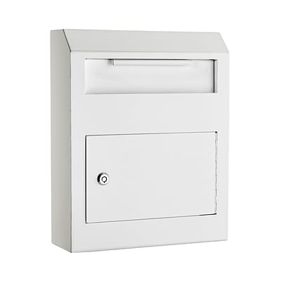 AdirOffice White Heavy Duty Secured Safe Drop Box (631-07-WHI)