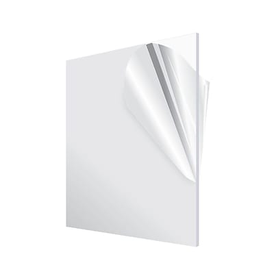 Adiroffice Acrylic Clear Water Resistant & Weatherproof Plexiglass Sheet 12''X 24 1/8 Thick 6 Pack (1224-6-C)