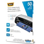 Fellowes Thermal Laminating Pouches, Letter, 3 mil, 50/Pack (5744301)