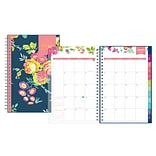 2019 Day Designer Planner, Birds PP 5H x 8W RY Monthly Wirebound (109232)