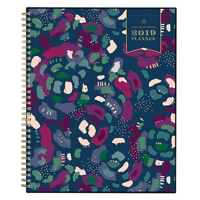 2019 Day Designer Planner Abstract Floral CYO 8.5H x 11W RY Monthly Wirebound (109225)