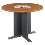 Bush Business Furniture 42 Inch Round Conference Table, Natural Cherry/Graphite Gray, Installed (TB5