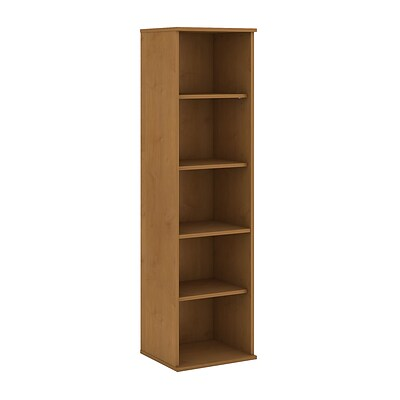 Bush Business Furniture 66H 5 Shelf Narrow Bookcase, Natural Cherry (BK6618NC)