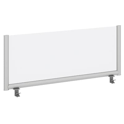 Bush Business Furniture 48W Desk Top Privacy Screen , Frosted Acrylic/Anodized Aluminum (PSP148FRFA)