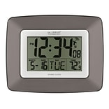 La Crosse Technology Atomic Digital Wall Clock with Temperature (WS-8008U-IT)