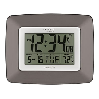 La Crosse Technology Atomic Wall/Table Clock, 7.38H x 9.22W x 1.1D (WS-8008U)