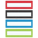 Trend® Polka Dots Desk Toppers® Name Plates, 2.88 x 9.5, Bundle of 6 Packs, 32 per Pack (T-69951)