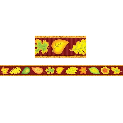 Teacher Created Resources 3 x 35 Fall Straight Border Trim, 12 Pack (TCR4693)