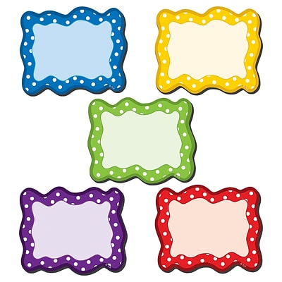 Teacher Created Resource Polka Dots Blank Cards Magnetic Accents, Assorted Colors, 18 per pack (TCR77210)