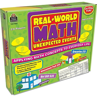 Teacher Created Resources Real World Math: Unexpected Events Game (TCR7804)