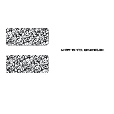 TOPS Gummed 2 Up 1099 Tax Double Window Envelope, 24 lb., White, 5 5/8 x 9, 100/Pack (7956E100)