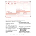 TOPS W-3 Transmittal Tax Form, 1 Part, White, 8 1/2 x 11, 25 Forms/ Pack