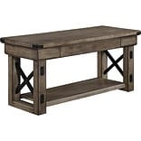 Altra Wildwood Wood Veneer Entryway Bench, Rustic Gray (5054096PCOM)