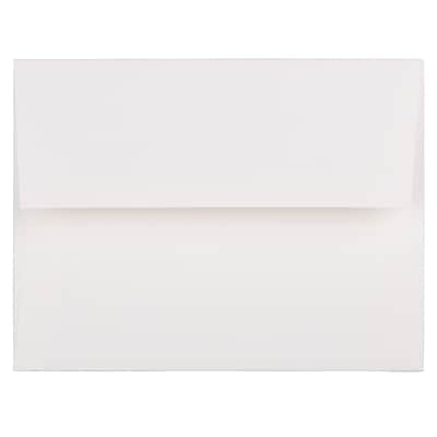 JAM Paper® A2 Strathmore Invitation Envelopes, 4.375 x 5.75, Bright White Linen, 50/Pack (66670I)