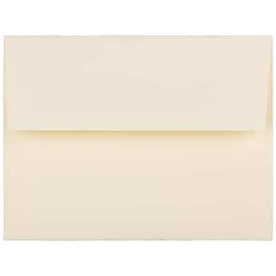 JAM Paper® A2 Invitation Envelopes, 4 3/8 x 5 3/4, Strathmore Ivory Laid, 250/Box (191158H)