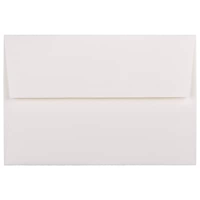 JAM Paper® A8 Invitation Envelopes, 5.5 x 8.125, Strathmore Bright White Pinstripe Recycled, 250/box (191212H)