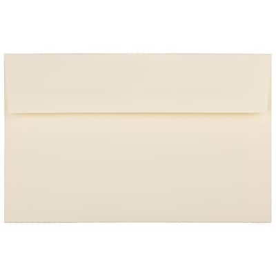 JAM Paper® A10 Invitation Envelopes, 6 x 9.5, Strathmore Ivory Wove, 250/Box (900849930H)