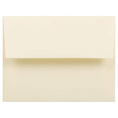 JAM Paper® A2 Invitation Envelopes, 4 3/8 x 5 3/4, Strathmore Ivory Wove, 250/Box (900919415H)