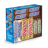 MARS Chocolate Full Size Candy Bars Assorted Variety Box 30 Count (220-00085)