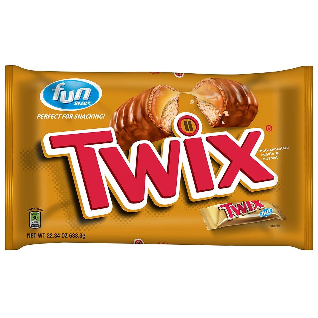 Twix Caramel Fun Size Chocolate Cookie Bar Candy Bag 2234 Oz 209 00467