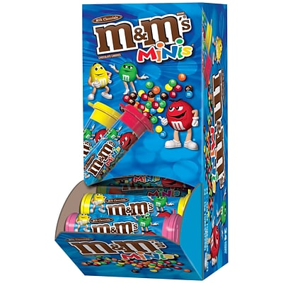 M&MS Minis Milk Chocolate Candy Tube, 1.08 oz, Pack of 24 (209-00061)