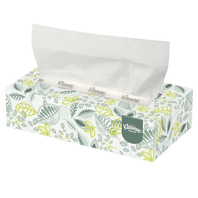 Kleenex® Naturals Flat Box Facial Tissue, 2-Ply, White, 125 Sheets/Box, 48 Boxes/Carton (KCC 21601)