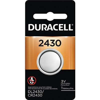 Duracell 2430 3V Lithium Coin Battery, 1/Pack (DL2430BPK)