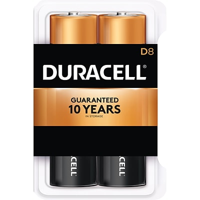 Duracell Coppertop D Alkaline Batteries, 8/Pack (MN13RT8Z)