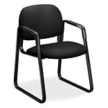 HON Solutions Seating Fabric Guest Chair, Fixed Arms, Black (HON4003CU10T)