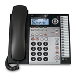 AT&T 1080 4-Line Expandable Corded Small Business Telephone with Digital Answering System, Silver/Bl