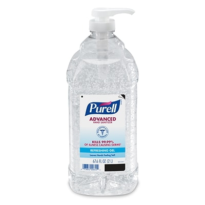 PURELL® Advanced Hand Sanitizer Refreshing Gel for Workplaces, Clean Scent, 2 Liter Pump Bottle (9625-04)