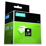 DYMO LabelWriter Address 30252 Label Printer Labels, 1-1/8W, Black On White, 700/Box