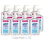 PURELL® Advanced Hand Sanitizer Refreshing Gel for Workplaces, Clean scent, 12 fl oz Pump Bottle 12/