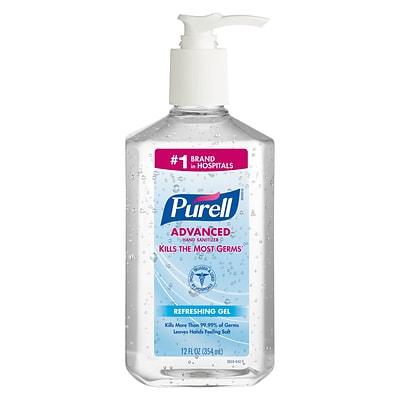 PURELL® Advanced Refreshing Gel Hand Sanitizer, Clean Scent, 12 oz ...