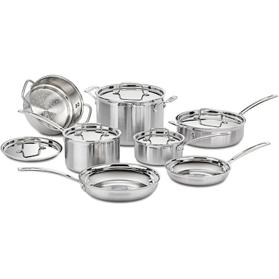Multiclad Pro Triple Ply Stainless Steel 12 Piece Cookware Set