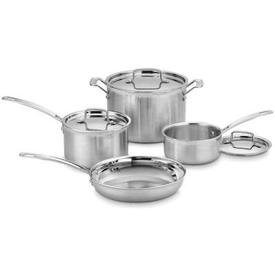 Multiclad Pro Triple Ply Stainless Steel 7 Piece Cookware Set