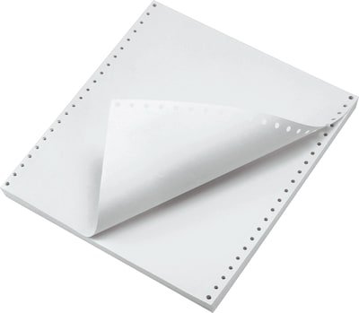 1000 Count Carbonless Copy Paper for Dot Matrix Printers White//Pink Margin Perforated 2-Part 500 Sets FirstZi 9-1//2 x 11 Inches NCR Continuous Feed Computer Paper 2-Ply