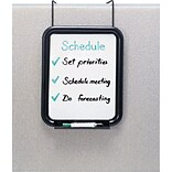 Safco® PanelMate™ Dry-Erase Board, Charcoal, 16 5/8H x 13 1/2W x 1 7/8D