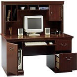 Bush® Birmingham Harv. Cherry Desk & Hutch